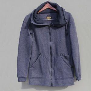 Burton Charcoal Minxy Fleece Sweater Hoodie Burton